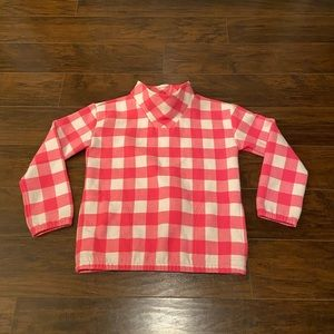Vineyard vines pink and white checkers pullover XL